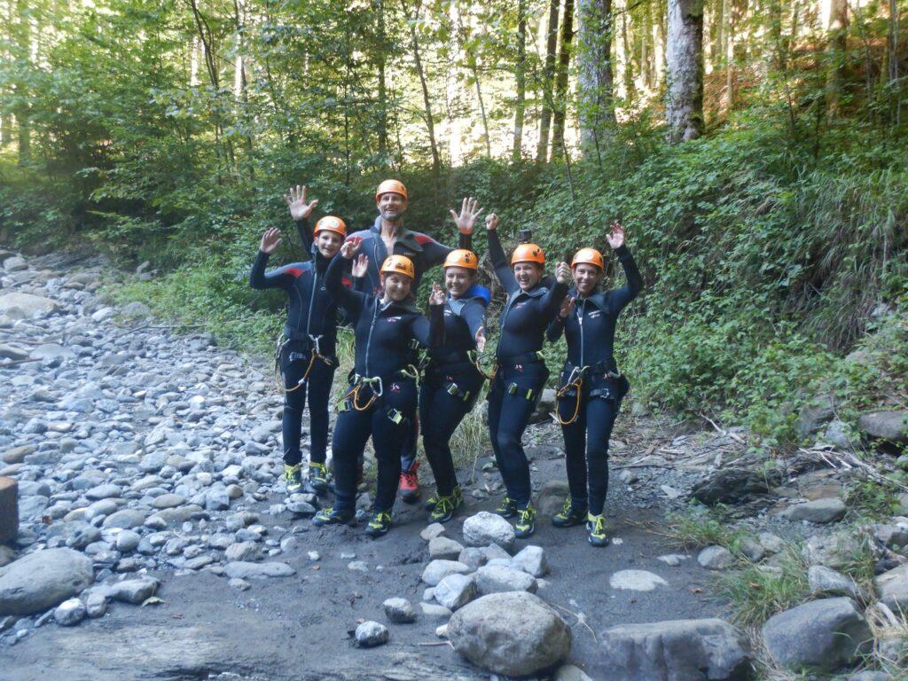 Team Betriebsausflug Canyoning